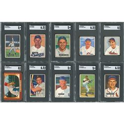 1950s-1960s SGC Graded Topps and Bowman Collection (23)