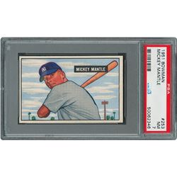 1951 Bowman #253 Mickey Mantle Rookie Card - PSA NM 7