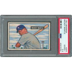 1951 Bowman #253 Mickey Mantle RC - PSA GOOD+ 2.5