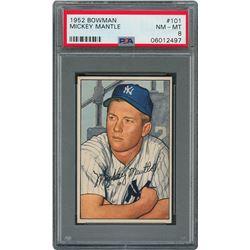 1952 Bowman #101 Mickey Mantle - PSA NM-MT 8