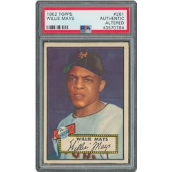 1952-1953 Topps Mickey Mantle and Willie Mays PSA Graded Trio