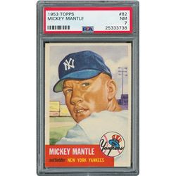 1953 Topps #82 Mickey Mantle - PSA NM 7