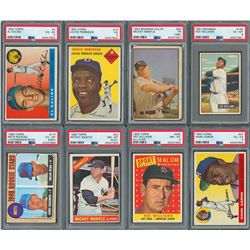 1953-1969 PSA Graded Major Hall of Famer Collection (16) with Two Mickey Mantle Cards