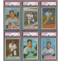 1954 Bowman Complete Set of (224) Cards with (6) PSA Graded