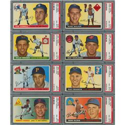 1955 Topps High Grade PSA Collection with High Numbers (21)