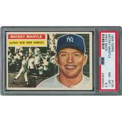 1956 Topps #135 Mickey Mantle Gray Back - PSA NM-MT+ 8.5