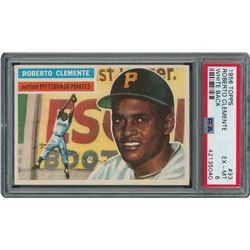 1956 Topps HOFer Pair with Koufax and Clemente - both PSA EX-MT 6