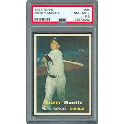 1957 Topps #95 Mickey Mantle - PSA NM-MT+ 8.5