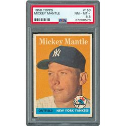 1958 Topps #150 Mickey Mantle - PSA NM-MT+ 8.5