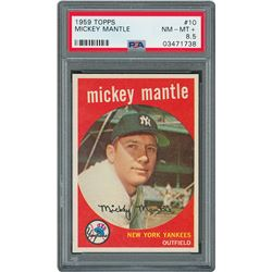 1959 Topps #10 Mickey Mantle - PSA NM-MT+ 8.5