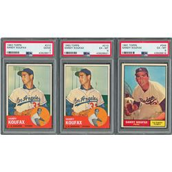 1961 and 1963 Sandy Koufax Topps Cards - PSA graded Collection (3)
