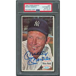 1964 Topps Giants #25 Mickey Mantle Autographed Card - PSA/DNA GEM MINT 10