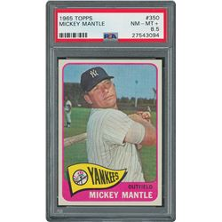 1965 Topps #350 Mickey Mantle - PSA NM-MT+ 8.5