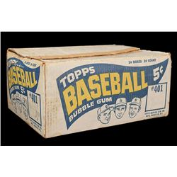 1965 Topps Baseball Outer Shipping Case with Killebrew, Koufax, and Mantle Images