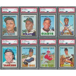 1967 Topps Partial Card Set with (8) PSA Graded Cards – Missing Most High Numbers