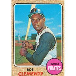 1968 Roberto Clemente Signed Topps Baseball Card