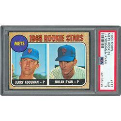 1968 Topps #177 Nolan Ryan Rookie Card - PSA NM 7