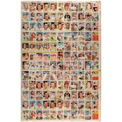 1969 Topps Baseball Uncut Sheet with Two Mickey Mantle #500 Cards