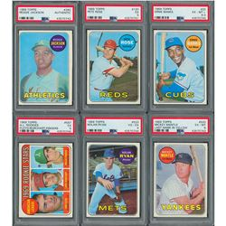 1969 Topps Complete Set of (664) Cards with (6) PSA Graded