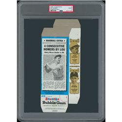 1969-70 Bazooka Pair of PSA Graded Full Boxes with Babe Ruth and Lou Gehrig