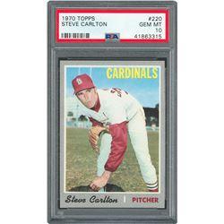 1970 Topps #220 Steve Carlton - PSA GEM-MT 10