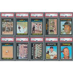 1971 Topps High Grade PSA Collection (12)