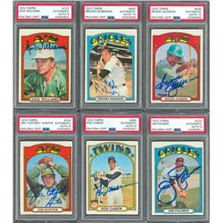 1972 Topps Collection of Signed Cards with Six PSA/DNA Graded and Encapsulated