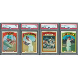 1972 Topps High Grade Collection (200) with Four PSA Graded