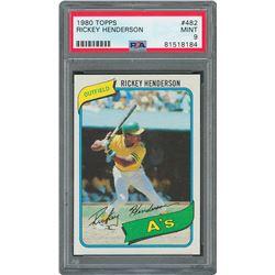 1980 Topps #482 Rickey Henderson PSA MINT 9