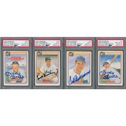 1983 Donruss Hall of Fame Heroes Autographed Collection with (4) PSA/DNA Graded