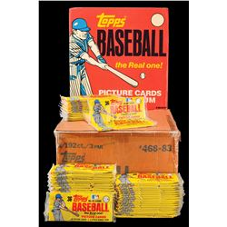 1983 Topps Unopened Grocery Rack Packs with Original Store Display