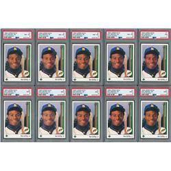 1989 Ken Griffey Jr. Upper Deck Rookie Card PSA Graded Collection (10)