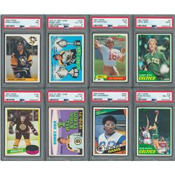1970-1988 Mostly Topps Multi-Sport Collection (98) with (15) PSA Graded including TWO Gretzky Rookie