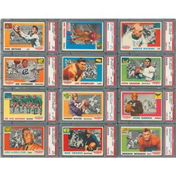 1955 Topps Football All American Complete Set (100) with PSA Graded