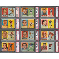 1957 Topps Football High Grade PSA Partial Set (81/154) - all PSA NM-MT 8