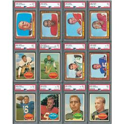 1960-1968 Topps and Post Football Sets (4) with PSA Graded (12)