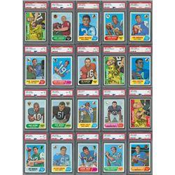 1968 Topps Football High Grade PSA Collection (50)