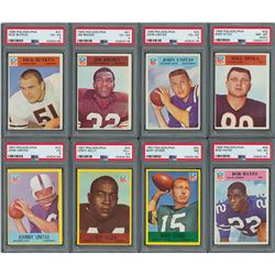 1966-67 Philadelphia Football Card Collection with (8) PSA Graded