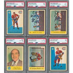 1959 Parkhurst Hockey High Grade Near Set (42/50) with (6) PSA Graded