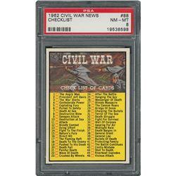 1962 Topps Civil War News Set