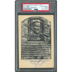 Ty Cobb Signed HOF Card - PSA/DNA