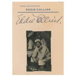 Eddie Collins Signature