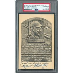 Rogers Hornsby Signed HOF Card - PSA/DNA