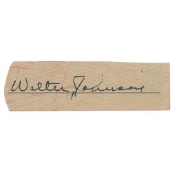Walter Johnson Signature