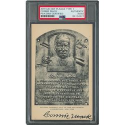 Connie Mack Signed HOF Card - PSA/DNA