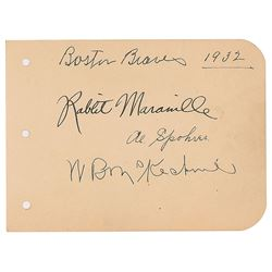 Rabbit Maranville and Bill McKechnie Signed Album Page