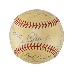 New York Yankees 1938 World Series Champions Team Signed Baseball with Gehrig and DiMaggio