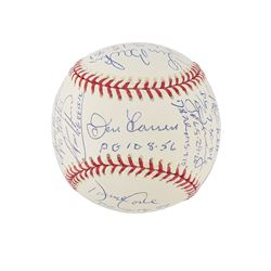 Perfect Game Pitchers Multi-Signed Baseball with 16 Signatures including Koufax and Halladay - PSA/D