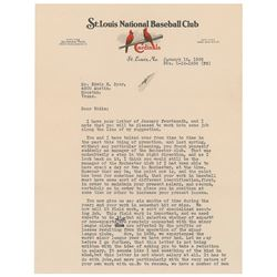 Branch Rickey Typed Letter Signed