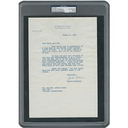 Jackie Robinson Typed Letter Signed